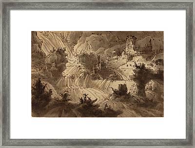 Antonio Basoli Italian, 1774 - 1848, Mountain Torrents Framed Print
