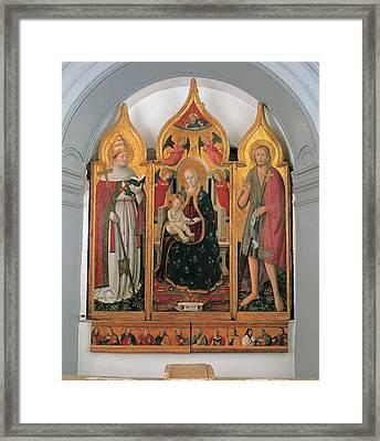 Antonio Da Fabriano, Enthroned Madonna Framed Print by Everett
