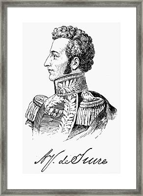 Antonio Jose De Sucre (1795-1830) Framed Print by Granger