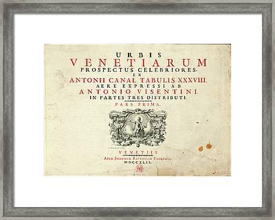 Antonio Visentini Author, Italian 1688-1782 Framed Print