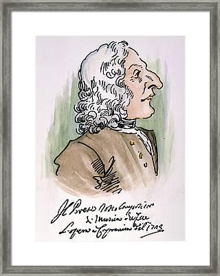 Antonio Vivaldi (1678-1741) Framed Print by Granger