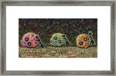 Ants And Sugar Skulls Framed Print by Holly Wood