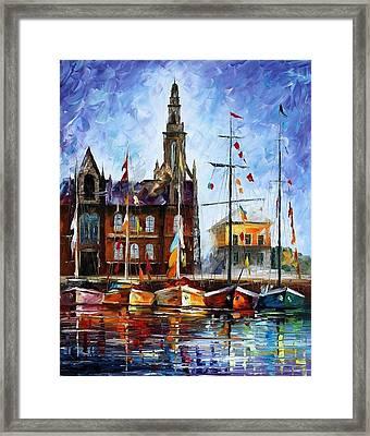 Antwerp - Belgium Framed Print by Leonid Afremov