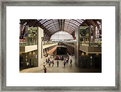 Antwerp-centraal Station Framed Print