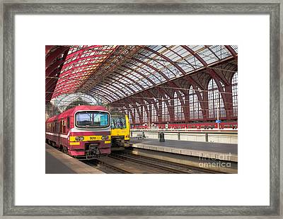 Antwerp Central Station Framed Print by Clarence Holmes