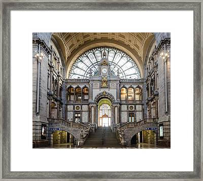Antwerp Central Station Framed Print
