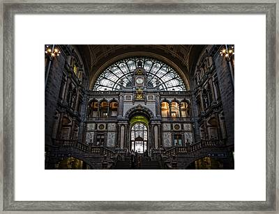 Antwerp Train Station II Framed Print