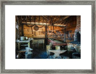 Anvil And Forge Framed Print by Rich Leighton