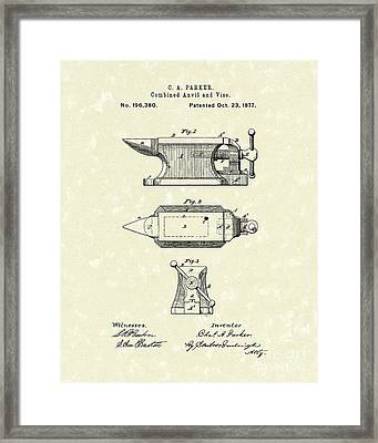 Anvil/vise 1877 Patent Art Framed Print