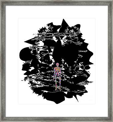 Anxiety Framed Print by Chris Butler