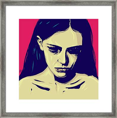 Anxiety Framed Print by Giuseppe Cristiano