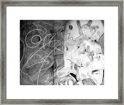 Anxiety Road Trip Sketch Framed Print by Hans Kaiser