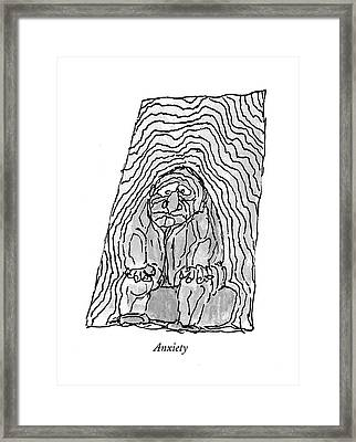 Anxiety Framed Print by William Stei