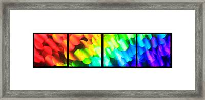 Any Colour You Like Series Layout Framed Print by Dazzle Zazz