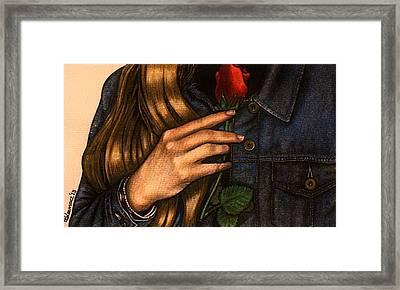 Any Human Heart Framed Print