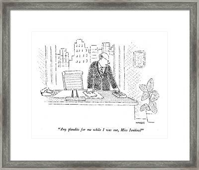 Any Plaudits Framed Print