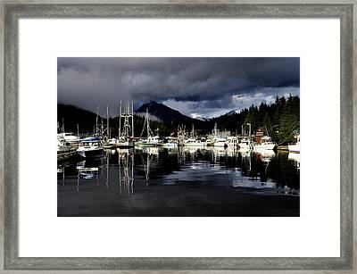 Any Port In A Storm Framed Print by Cathy Mahnke