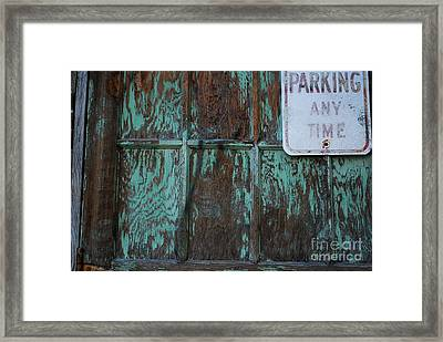Any Time Framed Print by Susan Hernandez