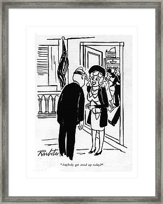 Anybody Get Stood Up Today? Framed Print by Mischa Richter
