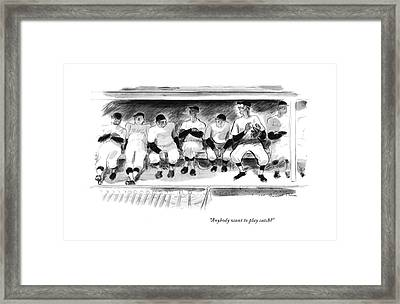 Anybody Want To Play Catch? Framed Print
