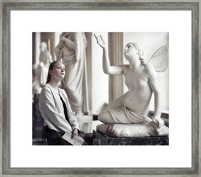 Anyone Can Be An Angel Framed Print