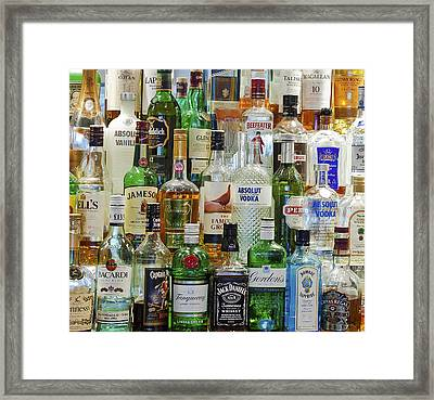 Anyone For A Drink Framed Print by Maj Seda