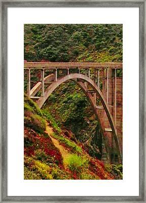 Anyone Seen The Bridge Framed Print by Sharon Costa