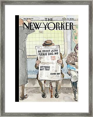 Anything But That Framed Print by Barry Blitt