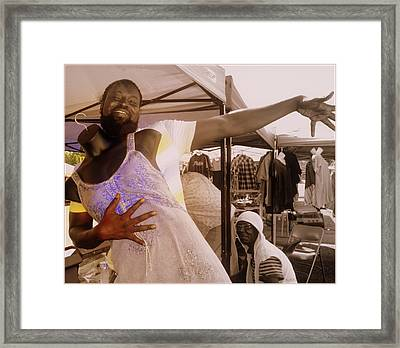 Anything For A Sale Framed Print by Kathy Barney