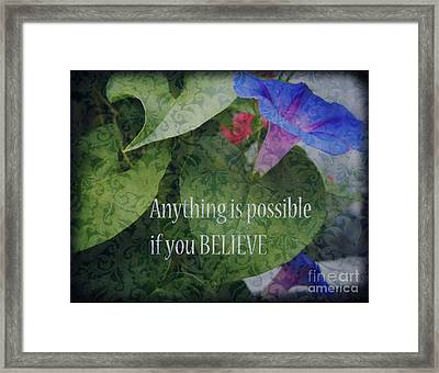 Anything Is Possible Framed Print by Eva Thomas