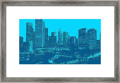 Anywhere Usa In Relief Framed Print by Bob and Nadine Johnston