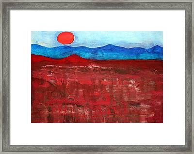 Anza-borrego Vista Original Painting Framed Print
