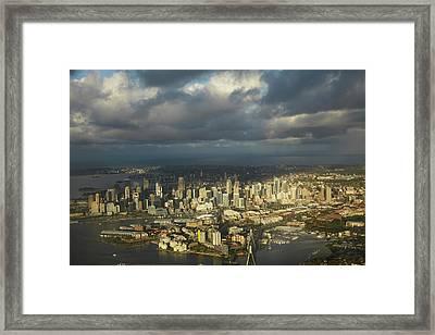 Anzac Bridge, Pyrmont, Sydney Cbd Framed Print by David Wall