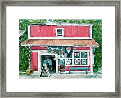 Aoki's Framed Print by Stacy Vosberg