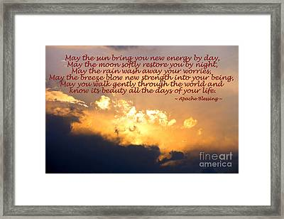Apache Blessing  Framed Print by Kathy  White