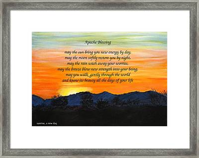 Apache Blessing-sunrise Framed Print