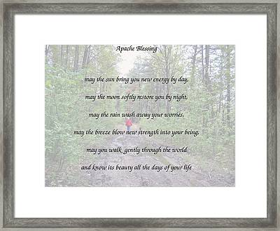 Apache Blessing With Photo Framed Print