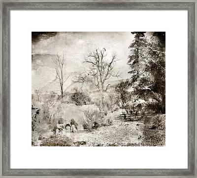 Apache Family, C1903 Framed Print