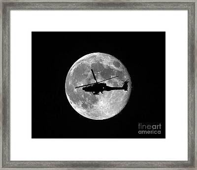 Apache Moon Framed Print