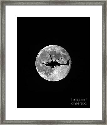 Apache Moon Vertical Framed Print by Al Powell Photography USA
