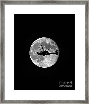 Apache Moon Vertical Framed Print