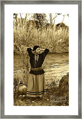 Apache River Maiden Framed Print
