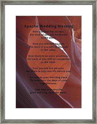 Apache Wedding Blessing On Canyon Photo Framed Print by Marcia Socolik