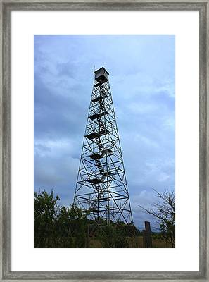Apalachee Fire Tower In Morgan County Framed Print by Reid Callaway