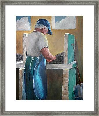 Apalachicola's Finest Oysters Framed Print