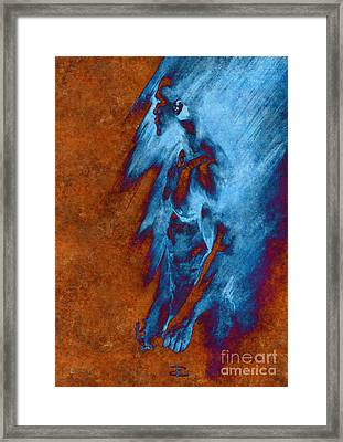 Framed Print featuring the drawing Apart With Mood Texture by Paul Davenport
