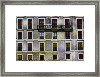 Apartment Block In Lisbon  Framed Print