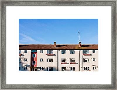 Apartment Block Framed Print by Tom Gowanlock
