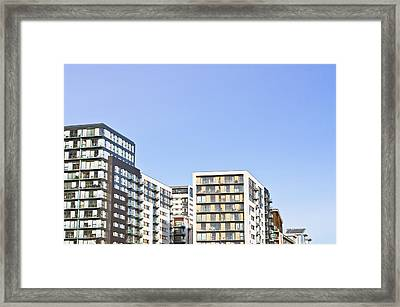 Apartment Blocks Framed Print by Tom Gowanlock