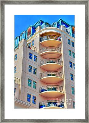 Apartment Building Framed Print by Kathleen Struckle